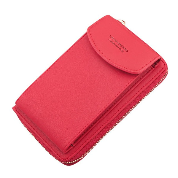 2020 Women Wallet Brand Cell Phone Wallet Big Card Holders Wallet Handbag Purse Clutch Messenger Shoulder Straps Bag  @22