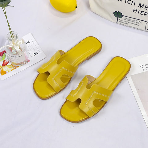 Summer Women Slippers 2020 New Brand Summer Casual Indoor Outdoor Beach Open Toe Non-slip Flip Flops Bath Slipper Flat Shoes  40