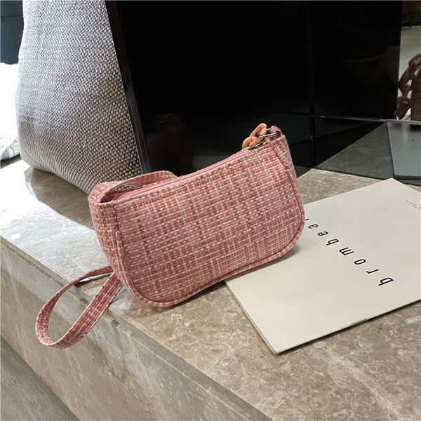 2020 Retro Shoulder Bag Vintage Handbag Hobos Bag for Women Canvas Female Baguette Bag Subaxillary Mini Bolsa Bolsa Feminina