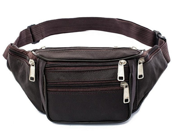 2019 New Hot Style Men Leather Casual Fanny Pack Waist Belt Bag Purse Hip Pouch Travel Sports Waist Packs