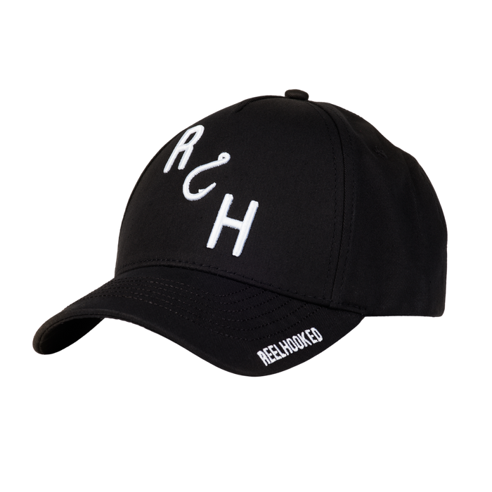 ReelHooked On Fishing Snapback - Black