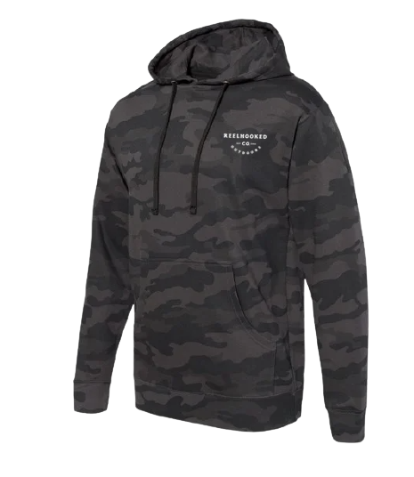ReelHooked True Outdoors Hoodie - Black Camo