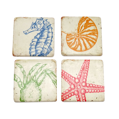 Sealife Coasters Set of 4