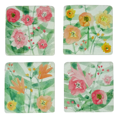 Poppies Coasters Set of 4