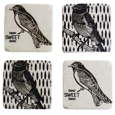 Sparrow Coasters Set of 4