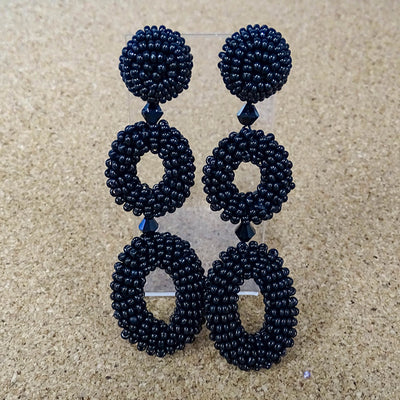 Anatasia Earrings Beaded Drop