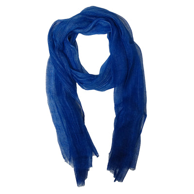 Scarf Washed Weave blue