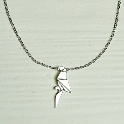 Aria Necklace Origami Parrot silver