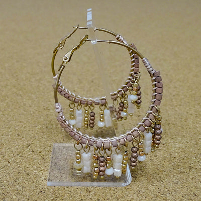 Herve Tassel/Hoop Earrings