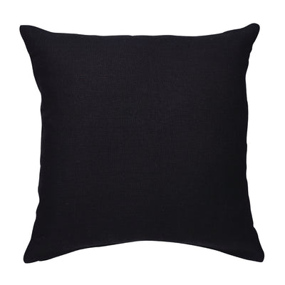 Black Linen Cushion 50cm
