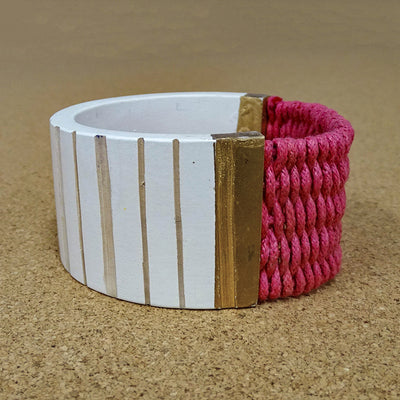 Orla Bangle white/pink