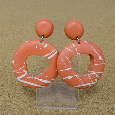 Enya Drop Earrings orange