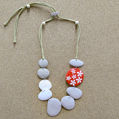 Aster Necklace red