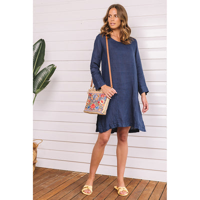Sorrento Long Sleeve Dress marine