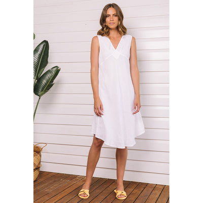 Caserta Sleeveless Dress white