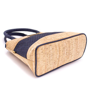 Borsa in sughero cork blu navy