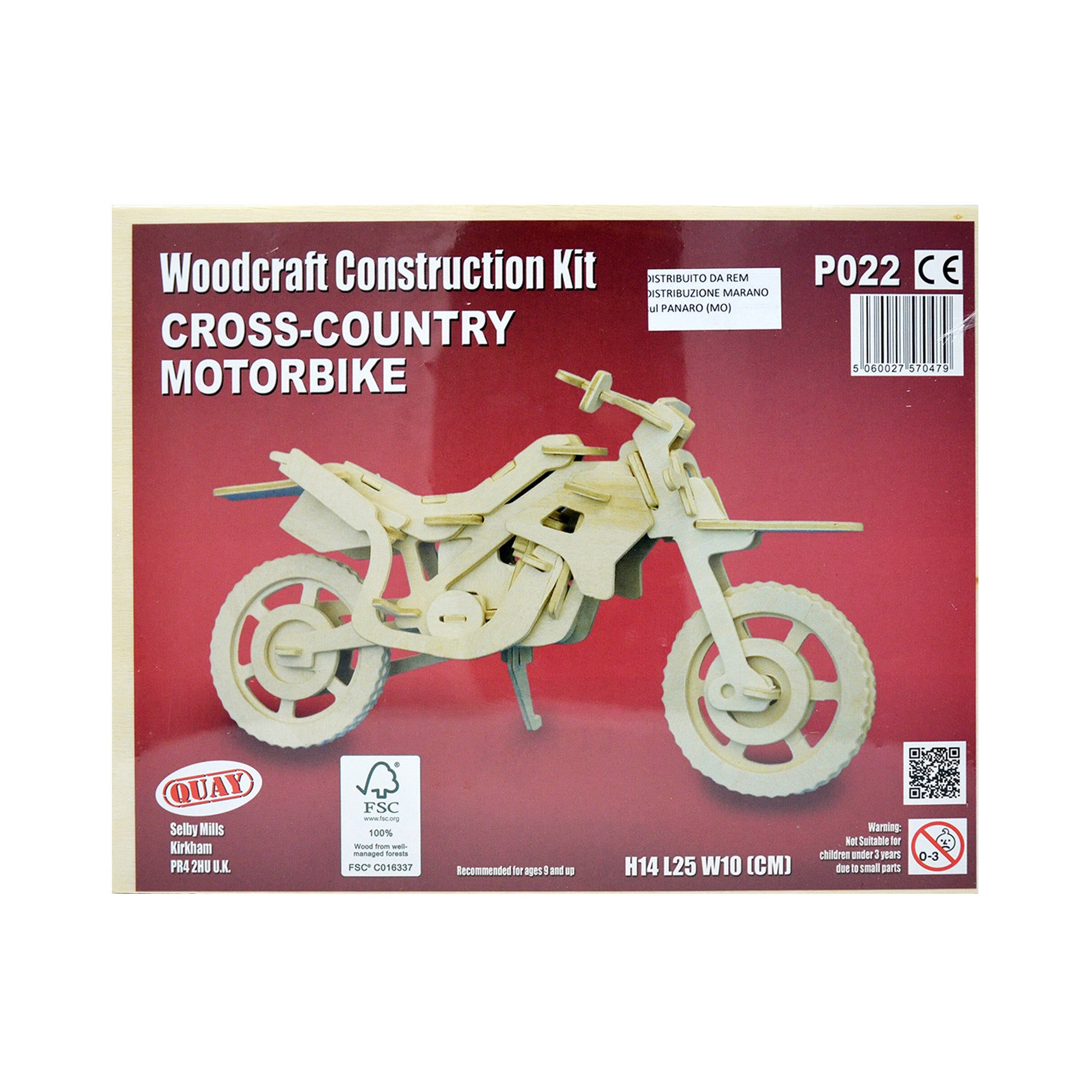 Puzzle tridimensionali in legno - Cross-Country Motorbike