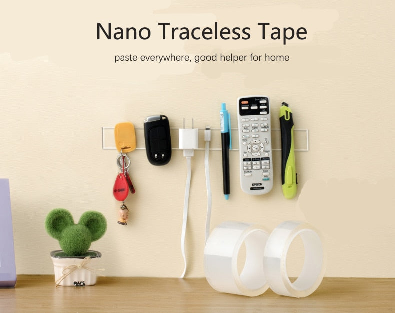 Nano Magic Tape Double-Sided Adhesive Tape Traceless Waterproof Scotch Tape For Bathroom Kitchen Sink Tap Gel Sticker