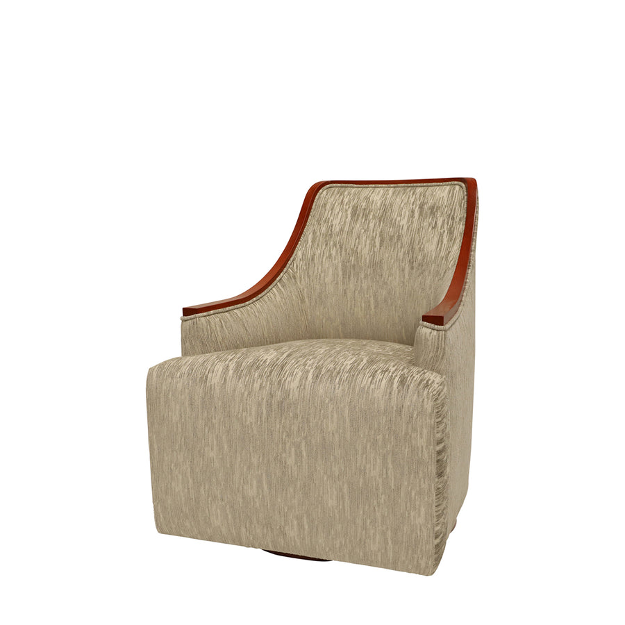 Finchley Lounge Chair | Bespoke Show Wood Swivel Chair