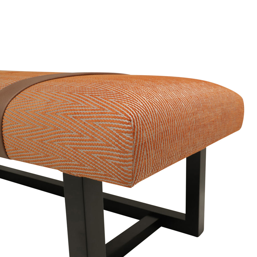 Campbell Bench | Leather Belt Bench