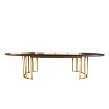 Stratford Dining Table | Bespoke High Gloss & Brass Dining Table