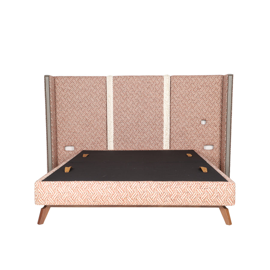 Pelham Bed | Bespoke Wing Headboard Bed