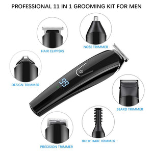 KIT FOR KINGS - Pro Mens Hair Clippers Set (11-in-1)