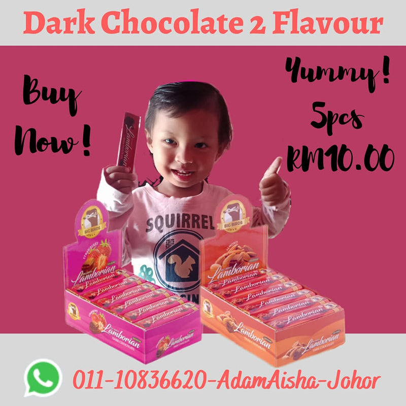 Dark Chocolate Compound 5 Pcs 24 Bar 2 Flavour Almond & Strawberry