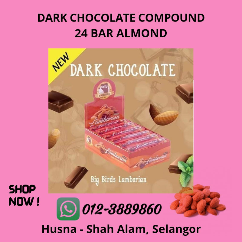 Dark Chocolate Compound 24 Bar Almond
