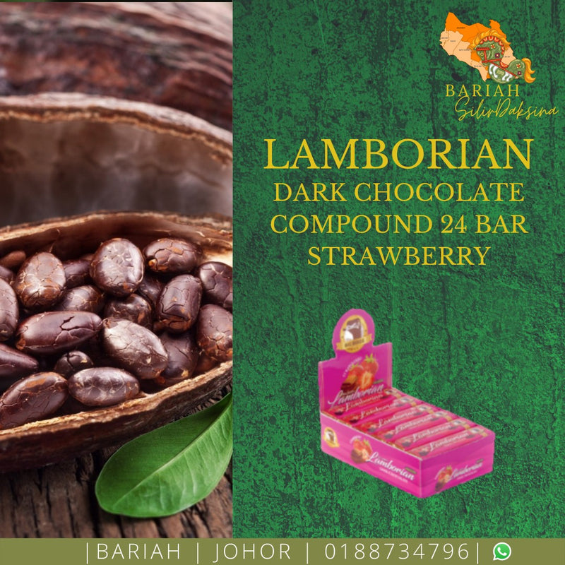 Dark Chocolate Compound 24 Bar Strawberry