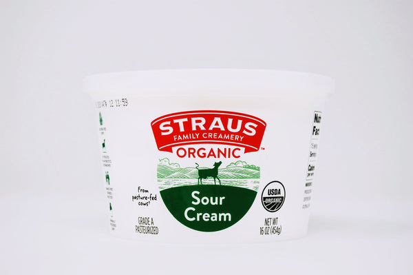 Straus Sour Cream Organic pint