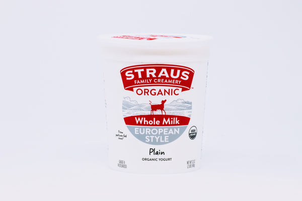 Straus European Whole Milk Yogurt Organic
