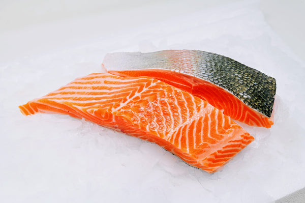 Ocean Trout Fillets on ice