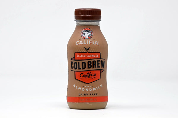 cold brew salted caramel califia coffee with almond milk
