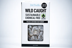 del pacifico wild caught shrimp peeled deveined raw sustainable
