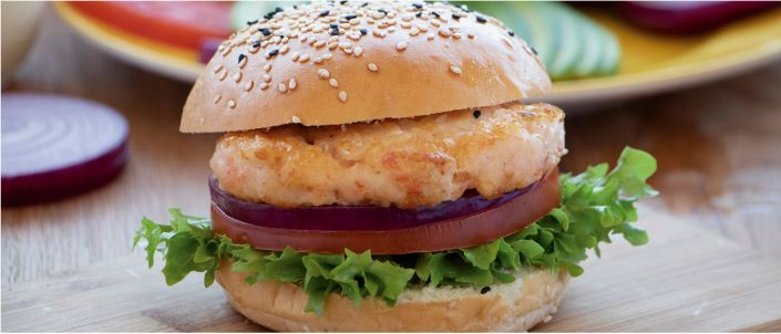 shrimpburger in a bun