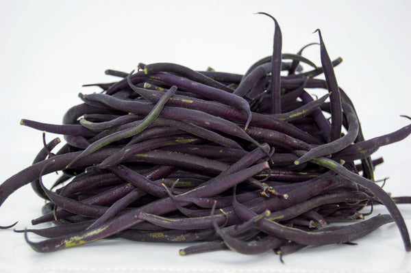 Organic Purple French Beans- 1/2 lb