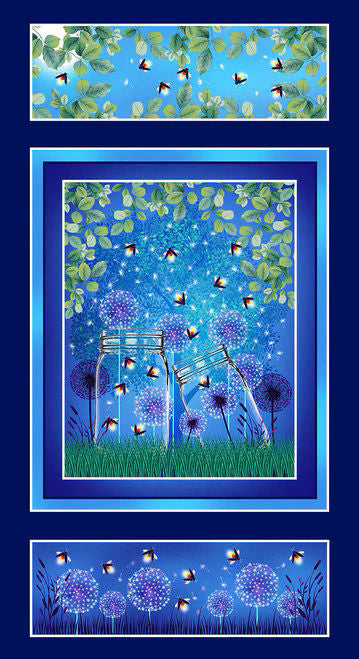 Let Your Light Shine -Fireflies Panel - 1374PG-77  - Blank Quilting