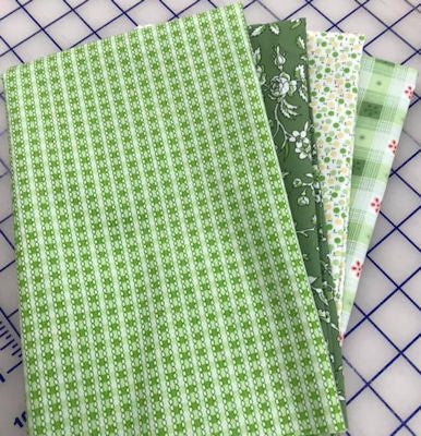 Garden Party - Green Fat Qtr Bundle of 4