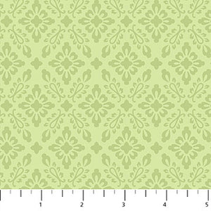 Orchids in Bloom - Mini Damask Green - 23876-74