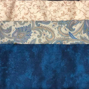 3 Yard Kit Teal Paisley w/Fabric Cafe Pattern