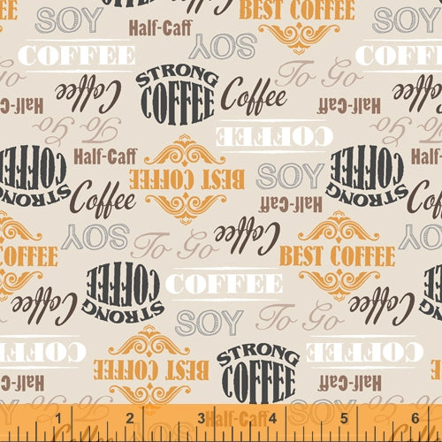 Coffee Shop  - Labels on Gray - 52261-1 - Windham