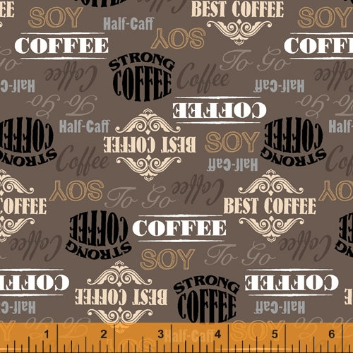 Coffee Shop  - Labels on Brown - 52261-3 - Windham
