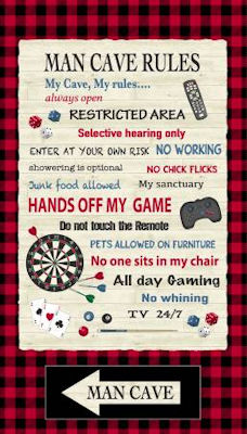 Man Cave  - Red Man Cave Rules Panel - 52410P-X Red - Windham