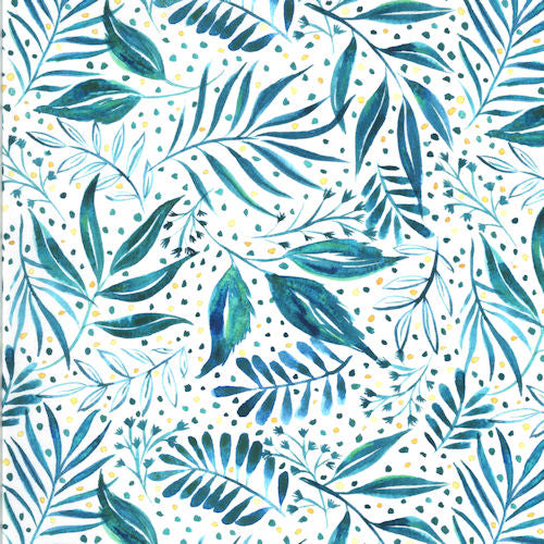 Moody Bloom 8445-14D Teal - Moda Fabrics