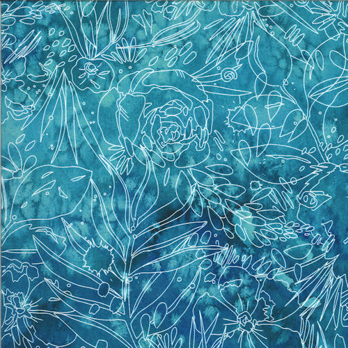 Moody Bloom 8447-15D Teal- Moda Fabrics