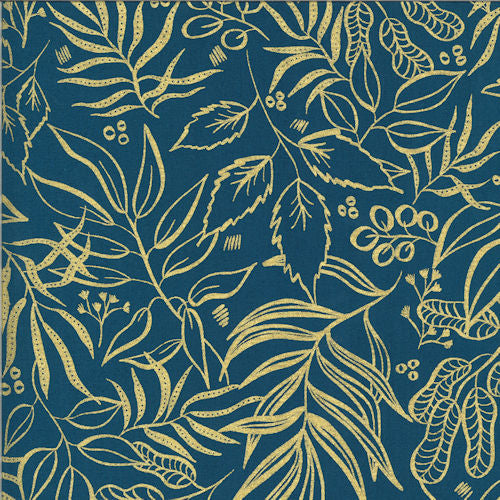 Moody Bloom 8449-25M Teal - Moda Fabrics
