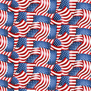 American Truckers 9476-88 American Flag Packed - Henry Glass Fabrics
