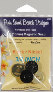 Magnetic Purse Snap - Black Nickel 3/4in