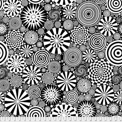 Dance Moves - Twirling - PWKP014.Black - Free Spirit Fabrics